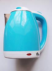 Электрочайник дисковый Domotec MS-5024В (голубой), фото 2