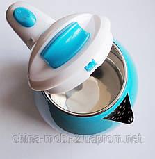 Электрочайник дисковый Domotec MS-5024В (голубой), фото 3