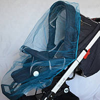 Москитная сетка на коляску универсальная (голубая)
