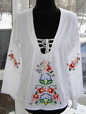 Блуза с вышивкой Петриківський розпис