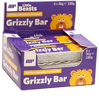 """Высокопротеиновые батончики для детей """"Grizzly Bar"""" 6х30г"""