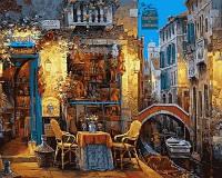 """VP 642  """"Венецианское кафе"""" Роспись по номерам на холсте 40х50см"""