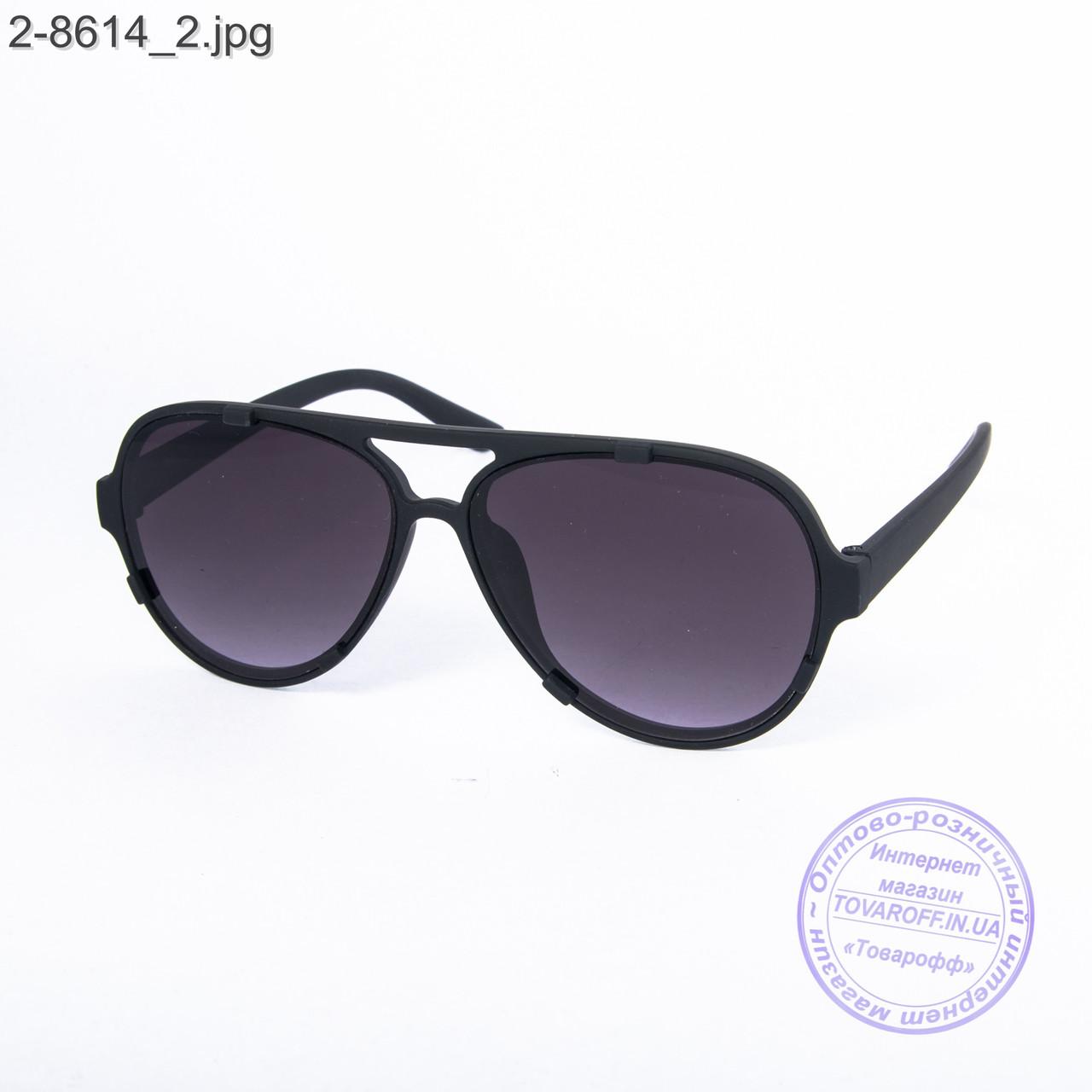 Солнцезащитные очки унисекс - черные - 2-8614
