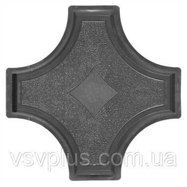 Фигурные пластиковые формы Рондо крест большой 325×325×45 мм Вереск 1 шт