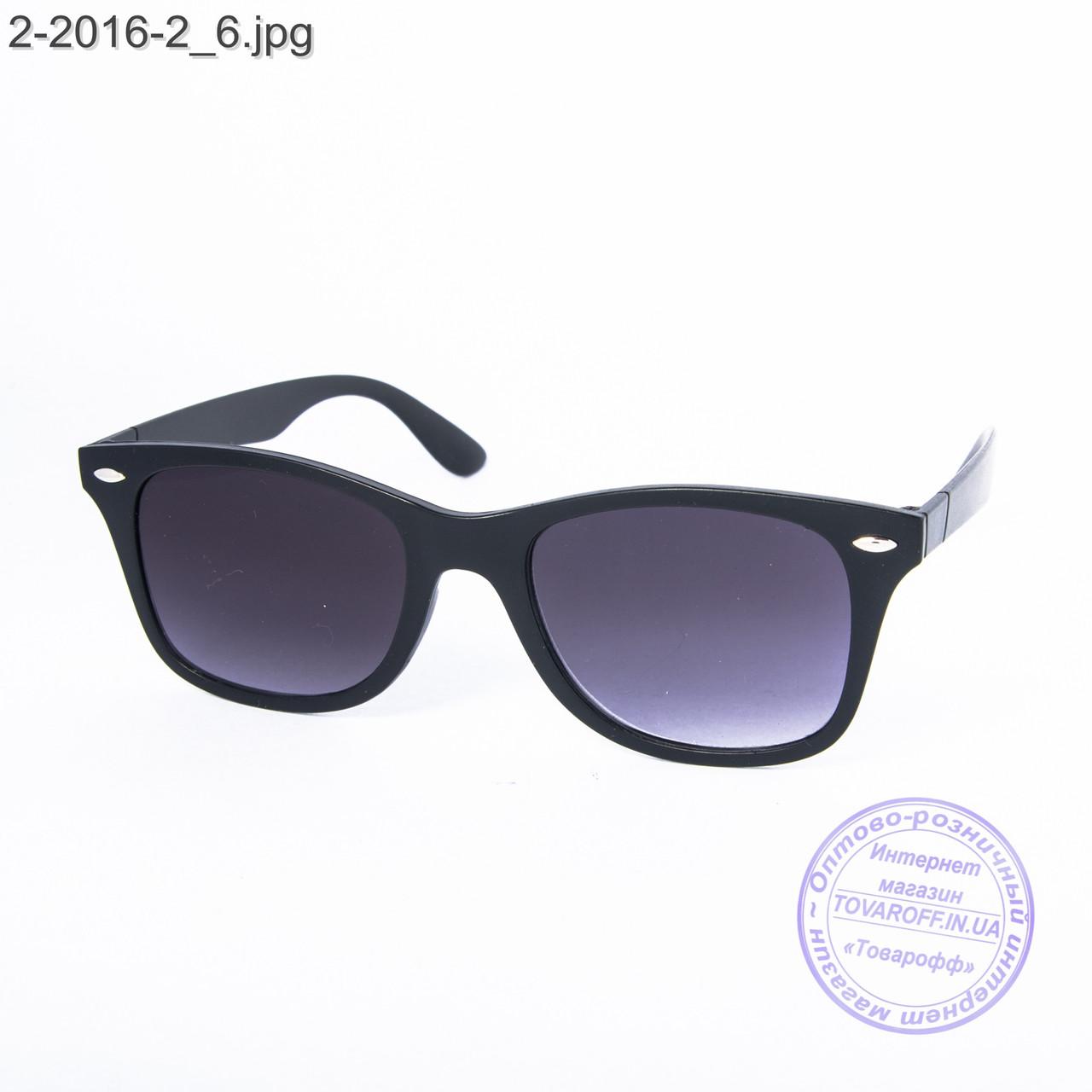 Солнцезащитные очки унисекс - черные - 2-2016-2