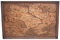 Карта Украины Ручная резьба 192 х 132 см.