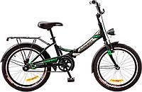 """Велосипед 20"""" Formula SMART  14G    рама-13"""" St черно-зелен.  с багажником зад St, с крылом St, с фонарём 2017"""