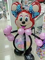 Минни Маус из воздушных шариков. Шар сюрприз.