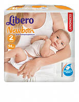 Подгузники Libero Newborn Mini 2 (3-6 кг) 94 шт.