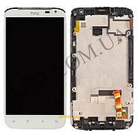 Дисплей (LCD) HTC X315 Sensation XL G21 с сенсором белый + рамка