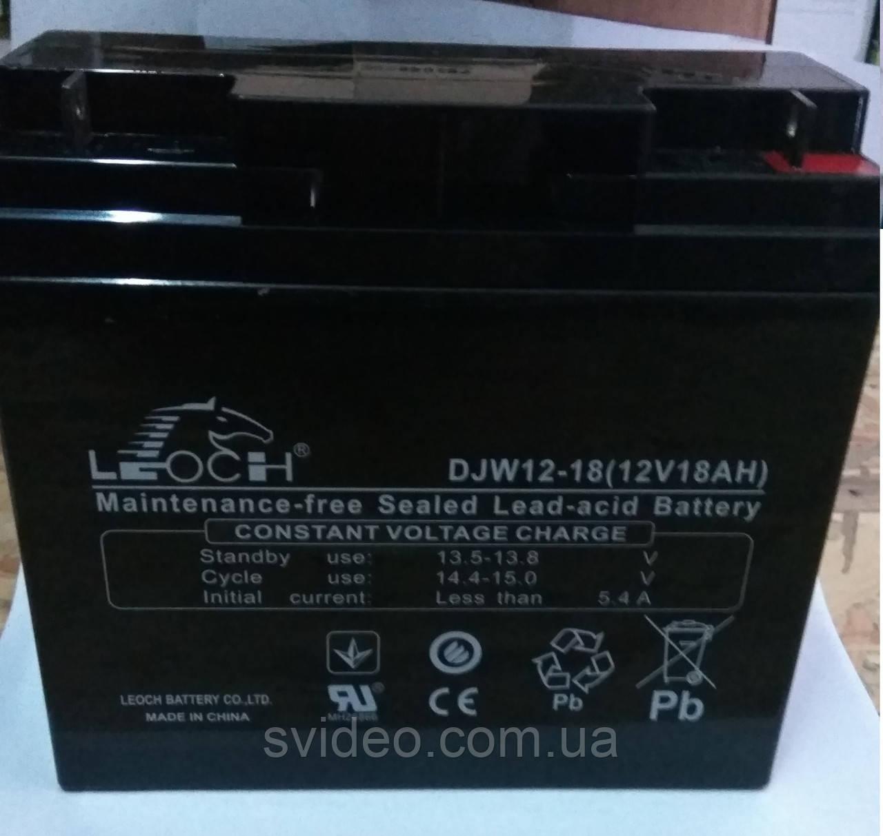 Аккумулятор 12В 18А/ч TriniX , не обслуживаемый, Свинцово-кислотный.АКБ 18Ач 12В