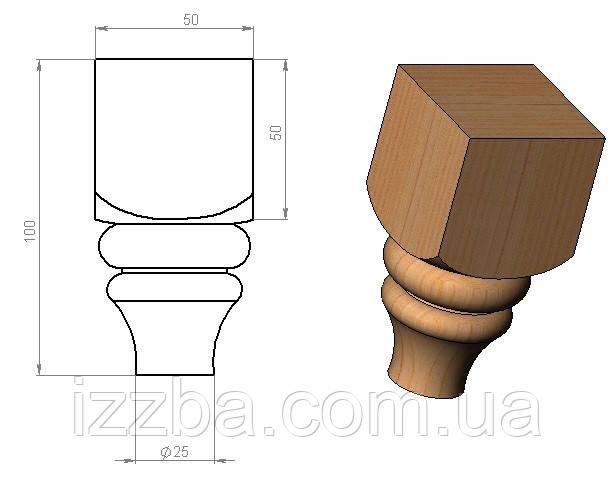 Мебельная ножка А-3