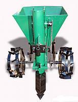 Картофелесажалка мотоблочная цепная УКРПРОМ КСП-02 (бункер 20 л.) + доставка