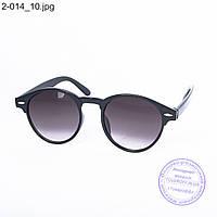 Солнцезащитные очки унисекс - черные - 2-014