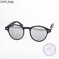 Солнцезащитные очки унисекс - черные зеркальные -2-014