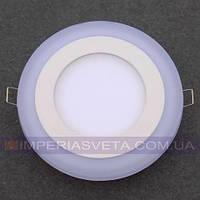 Светильник светодиодный дневного света IMPERIA панель 16W сверхтонкий круг RGB встраиваемый LUX-526552