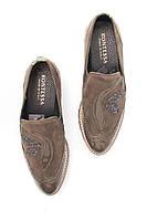 Женские оливковые  ботинки с лепестками из камней и вставкой под змеиную кожу