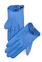 Синие кожаные перчатки