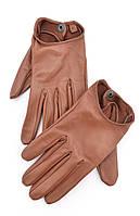 Коричневые кожаные перчатки