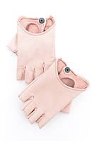 Короткие кожаные перчатки без пальцев