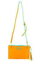 Маленькая женская сумочка-клатч Simple Bag горчичная