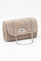 Вязаная стильная сумка-клатч