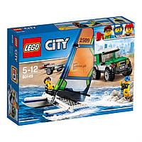 Конструктор LEGO City Внедорожник с прицепом для катамарана 198 деталей (60149)