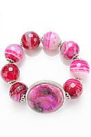Браслет из натурального камня розового цвета