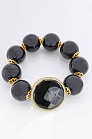Женский черный браслет из натурального камня