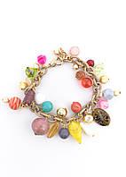 Женский оригинальный браслет на руку с полудрагоценными камнями