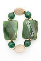 Браслет из натурального камня зеленого цвета