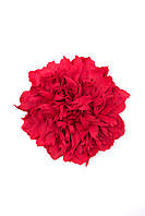Красная брошь-пион из фоамирана