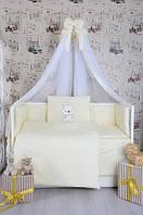 """Детское постельное белье Bepino Жаккард вышивка """"Мишка в тельняшке"""""""