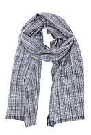 Черно-белый кашемировый клетчатый шарф
