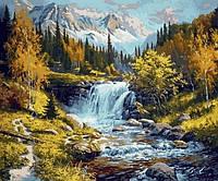 Картина по номерам Mariposa Горная речка  40 х 50 см
