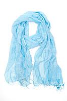 Однотонный синий шарф