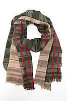 Стильный клетчатый шарф из шёлка и кашемира