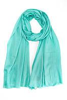 Однотонный голубой шарф из кашемира
