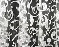 Тюль органза с рисунком мадрид высота 2.80м, белая с белым рисунком