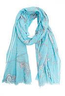 Стильный синий шарф-парео