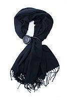 Шарф черного цвета с украшением