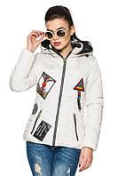 Стильная женская белая   куртка Лика    Модная зона  42-54 размеры