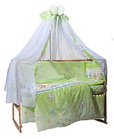 """Детское постельное белье  Bepino """"Улыбка"""" салатовый+держатель для балдахина в подарок!"""