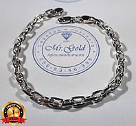 Мужской браслет серебро Якорное плетение