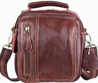 Кожаная мужская сумка 673-1brown, светло-коричневая