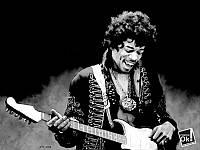 Постер глянцевый - Jimi Hendrix / Джимми Хендрикс, 80x60 см