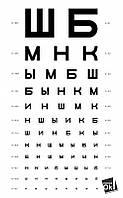 Постер глянцевый - Для окулиста, 60x97 см