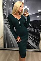 Платье женское Ангора, темно-зеленое