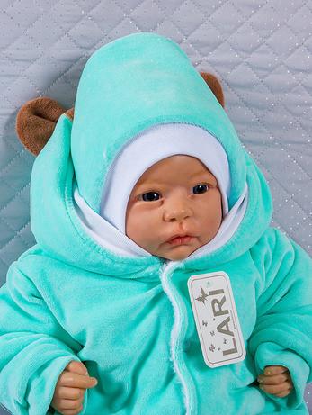 Зимняя шапочка для новорожденных, ментоловая
