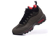 Мужские кроссовки Nike Air Max 95 Sneakerboot Dark Brown/Red топ реплика, фото 3
